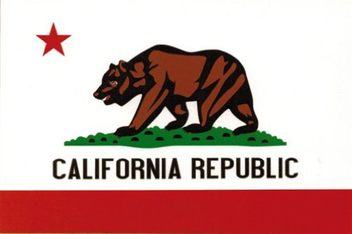 California Flag - Bear with Star & California Republic - Sticker / - Flag Sticker California
