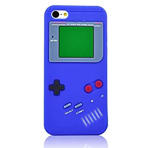 Newest Case for Appple iPhone 6 (4.7) Retro Game Boy Style Soft Silicone Rubber Protector Back Cover-Dark Blue(With 2 PCS Gift Sticker)