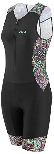 Louis Garneau Women's Pro Carbon Padded, Compression, Sleeveless Triathlon Bike Suit, Expressionist, X-Small ()