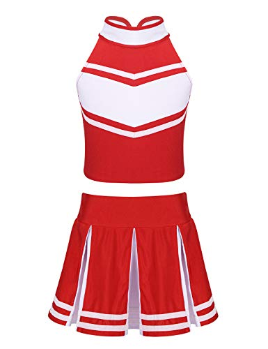 renvena Girls Cheer Leader Uniform Child Cheerleading