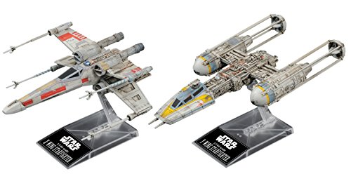 Bandai Hobby Star Wars 1/144 Plastic Model X-Wing & Y-Wing Starfighter