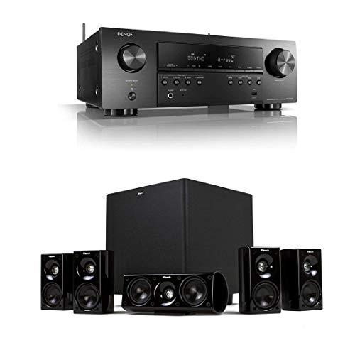 Denon AVR-S650H 5.2 Channel Audio Video Receiver + Klipsch HDT-600 Home Theater System Bundle