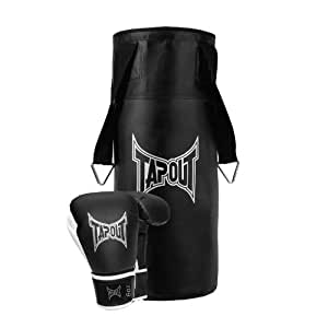 TapouT 6-Ounce Boxing Glove/Heavy Bag Combo Kit, Black