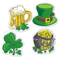 Pkgd St Patrick's Day Cutouts   (4/Pkg)