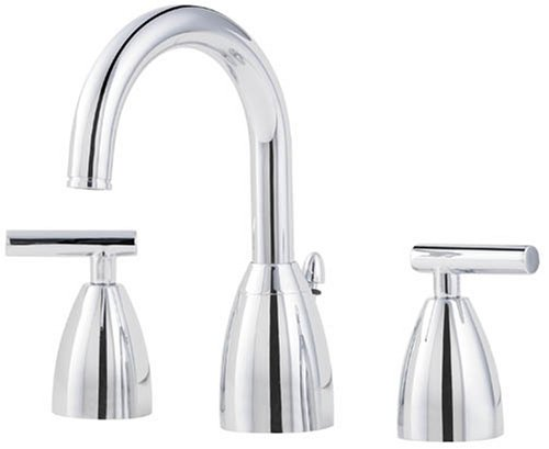 Price Pfister 049NC00 Contempra Double-Handle Widespread Lavatory Faucet with Pop-Up, (Price Pfister Metal Pop Up Faucet)