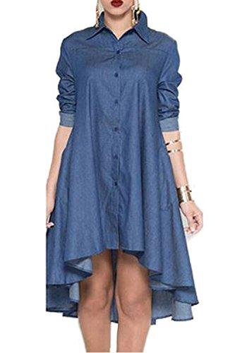 jean blouse dress - 7