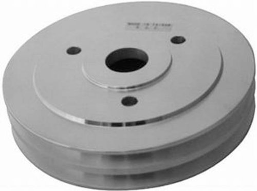Racing Power Company R8843 Lower Satin Aluminum SWP Double Groove Pulley for Big Block (Big Block Chevy Crankshaft)