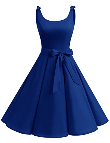 Rockabilly Vintage Vestito 1950 Cocktail Royalblue Donna bbonlinedress Festa Vestiti RwqOWT0