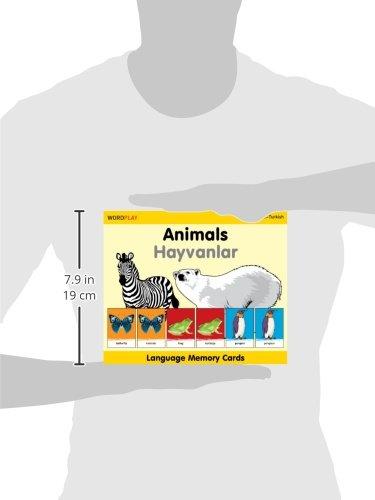 WordPlay Language Memory Cards–Animals (English–Turkish) by Milet Publishing