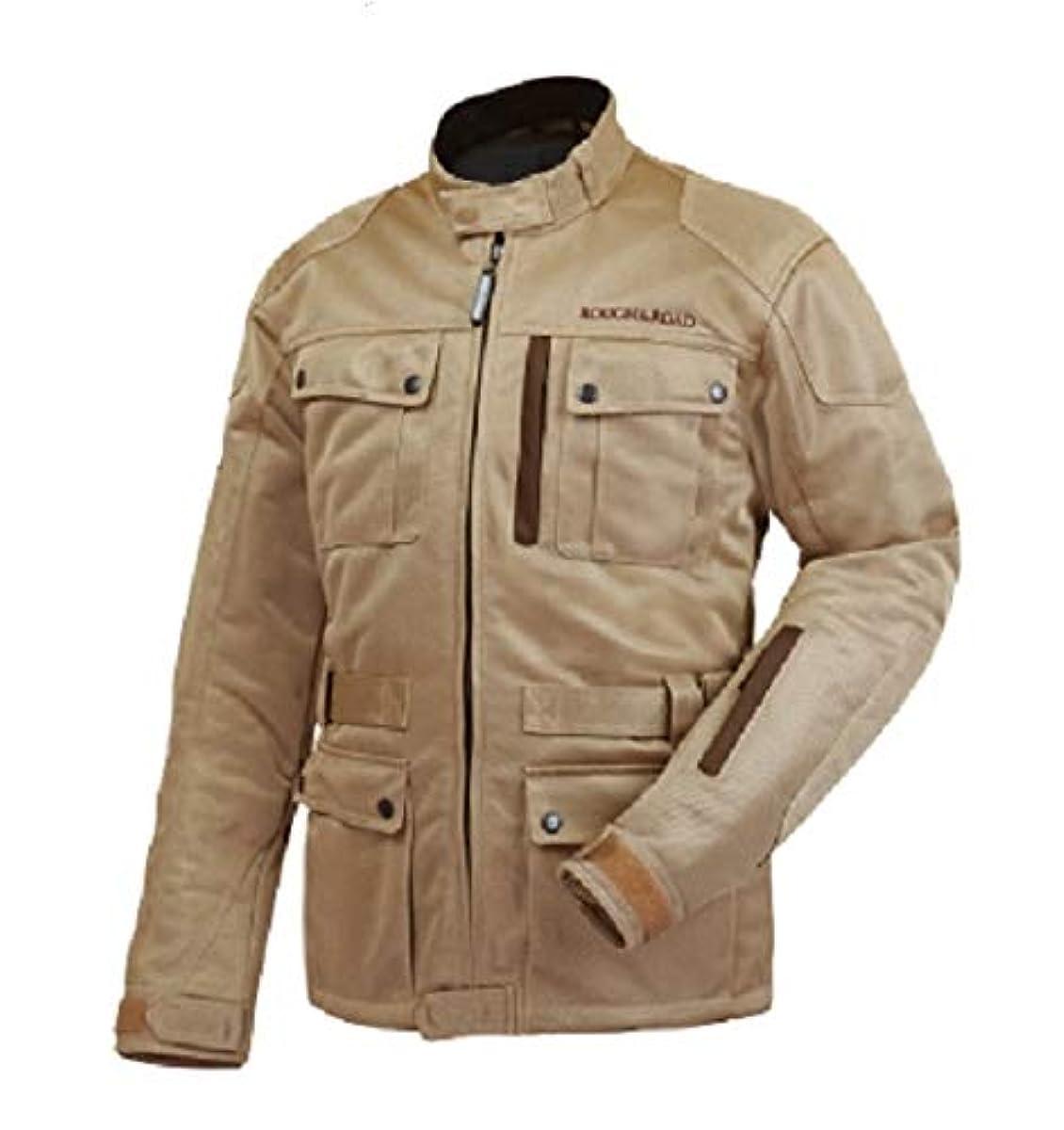 [해외] 러프 앤드 로드(ROUGH&ROAD) 오토바이용 재킷 트렉 메쉬 재킷 RR7327 베이지 X엘사이즈 RR7327BE5