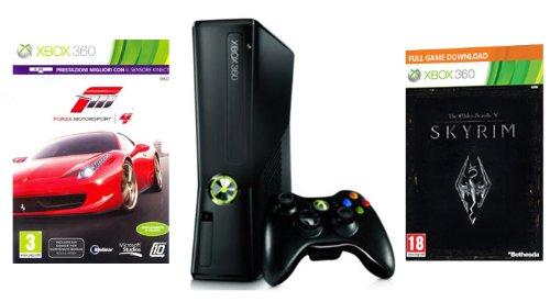 Xbox 360 - Consola 250 GB con Forza Motorsport 4, Skyrim e Abbonamento Xbox Live