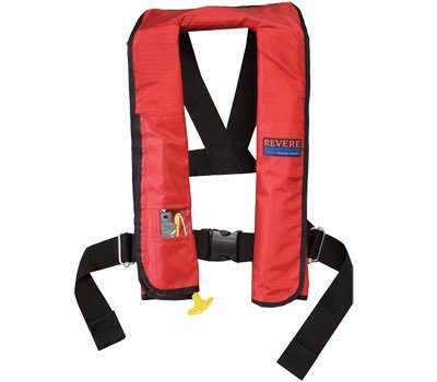 - Revere ComfortMax Inflatable Personal Automatic Type II Flotation Device (Red, 30-52-Inch)