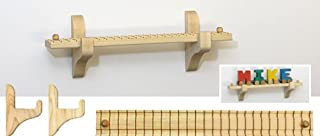 "product image for 12.5"" Wall Mount Track & Brackets for 4 Pieces, NameTrain Sold Separately - Made in USA"