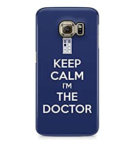 Doctor Who Keep Calm Im The Doctor Hard Plastic Phone Case Cover For Samsung Galaxy S6 Edge