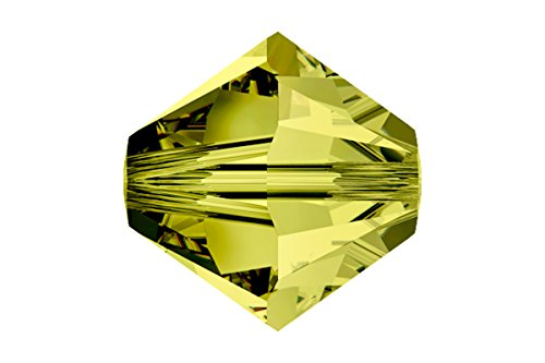 10 pcs Swarovski Crystal Bicone 5301/5328 Beads, Olivine, 8mm