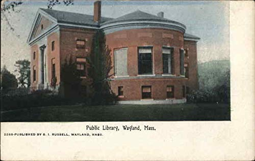 Public Library Wayland, Massachusetts Original Vintage Postcard from CardCow Vintage Postcards