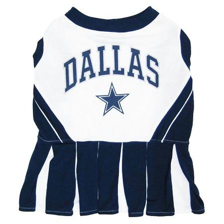 (Pets First Dallas Cowboys Pet Cheerleader Uniform Extra)