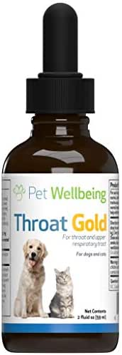 Pet Wellbeing - Throat Gold for Cats - Natural Cough and Throat Soother for Felines - 2oz (59ml)
