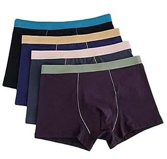 Men's Comfort Soft Cotton Plus Size Underpants 4-Pack Boxer Briefs 1 4X-Large