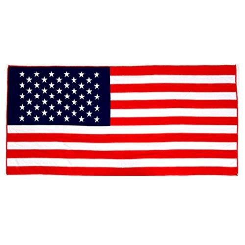 American Flag Beach Towel Four Seasons Essential Beach Towel Towel Microfiber Big Size Towel 2Set/Gift/Honeymoon/Travel/Summer/Swimming Pool/Big Size/Keep Temperature/Valley/Children