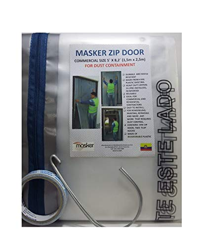 Zipper Door Commercial Kit for Dust Containment. Zipper Door Commercial Size 8.2´ x 5´ Remodeling and Repairing Zones.