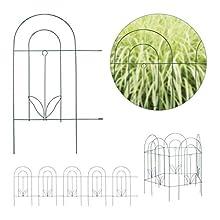 Relaxdays Beetzaun Cercado para jardín (5 Piezas, Metal, para Fijar, 62 x 244 cm), Color Verde