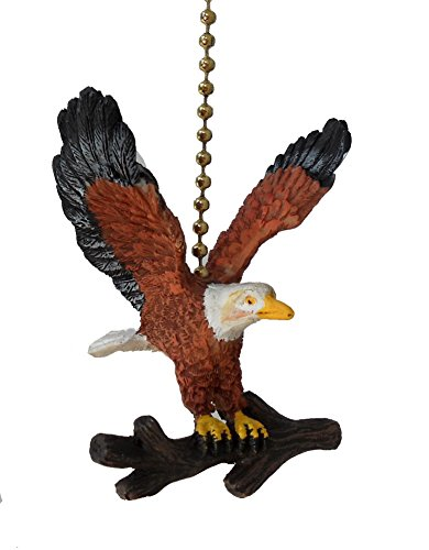 American Bald Eagle Ceiling Fan Pull Light Chain Extender (Chain Decorative Pulls)