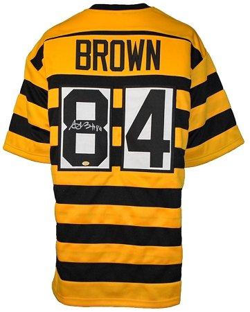 b264597c7 ... Antonio Brown Autographed Pittsburgh Steelers Bumble Bee Custom Jersey  ...