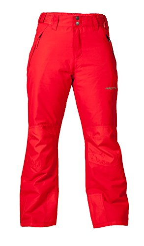 Arctix Youth Snow Pants with Reinforced Knees and Seat, Formula Red, Large (Youth Skis)