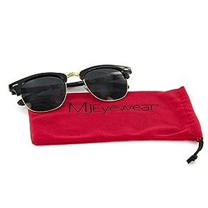 MJ Eyewear New Vintage Classic Sunglasses Half Frame Semi-Rimless Retro Classic Glasses