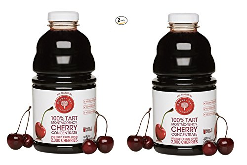 2 Pack 32 Ounce Cherry Bay Orchards Tart Juice Concentrate ~ 64 Ounce Total ()