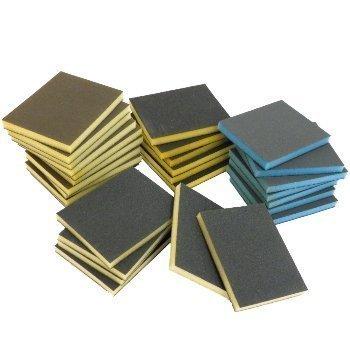20 x Abrasive Wet & Dry Sanding Foam Sponge Blocks Double Sided Denibbing Pads 220 Grit HeelzSoHigh