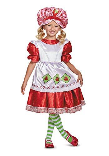 Strawberry Shortcake Vintage Deluxe Costume, Red, Medium (7-8)