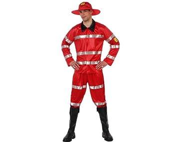 Atosa - Disfraz de bombero para hombre, talla L (M/L) (70237 ...