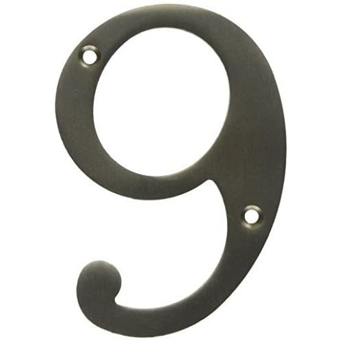 * Use Rn4-9u15 4 In House Number #9 Brass