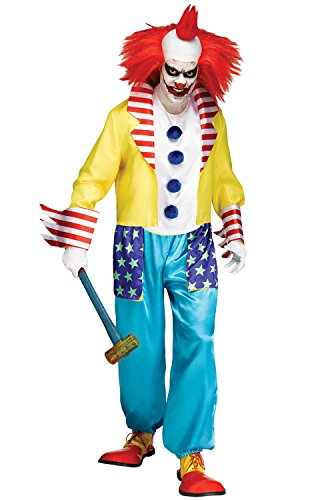 Fun World Men's Wicked Clown Master Costume