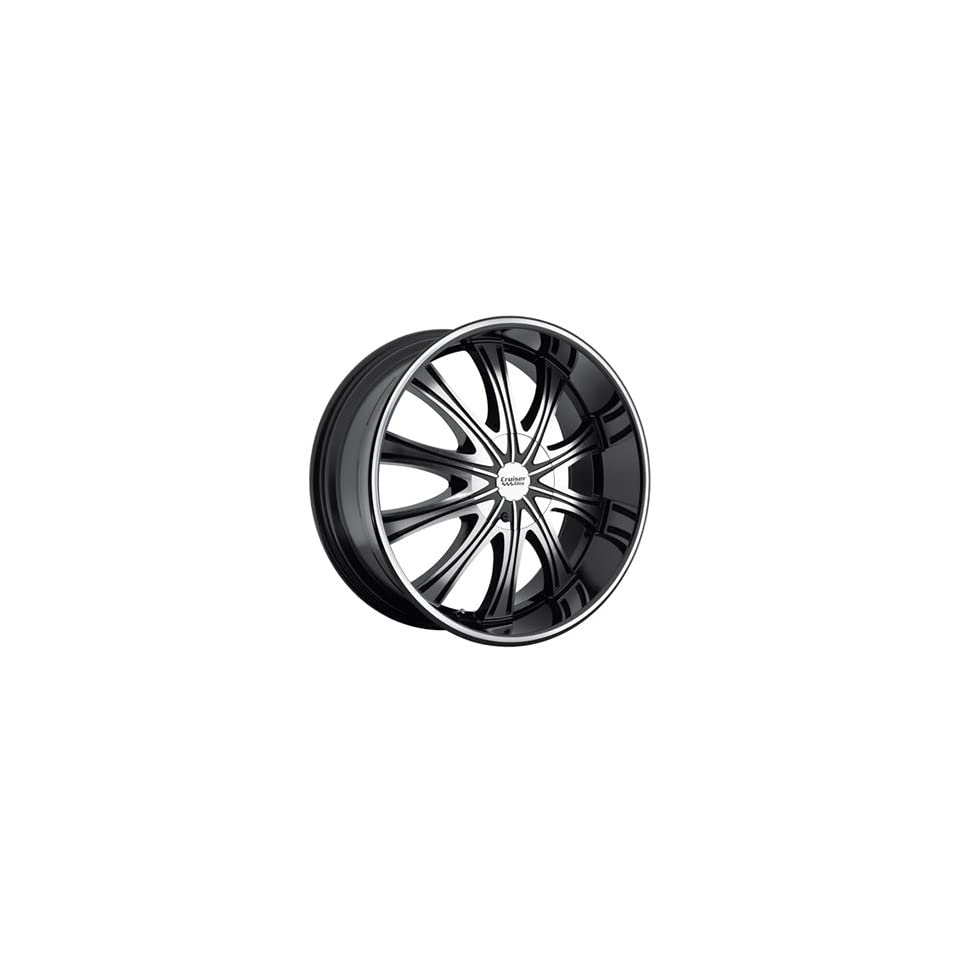 Cruiser Alloy Slice 20x8.5 Black Wheel / Rim 5x115 & 5x120 with a 40mm Offset and a 74.10 Hub Bore. Partnumber 911MB 2855540
