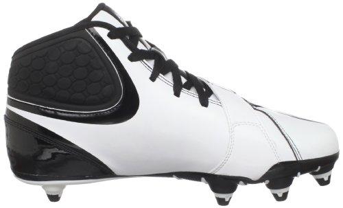 Adidas Heren Kwaadaardigheid D Voetbal Cleat Zwart / Wit / Wit