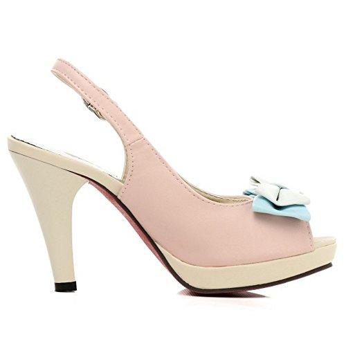 Peep Pink Slingback Toe Women Sandals TAOFFEN Shoes OxqnT75wwa