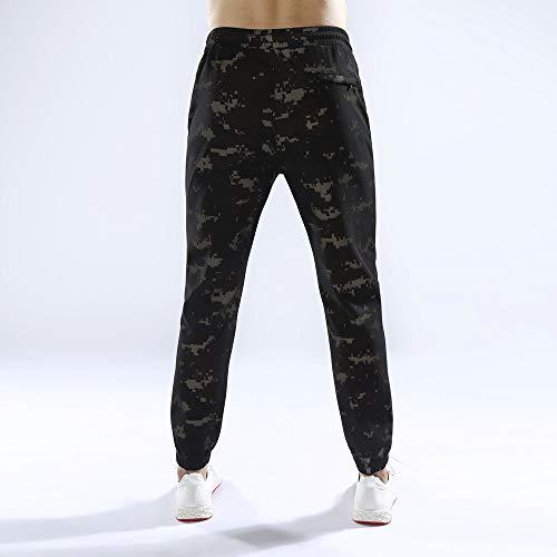 Kobay Pantaloni Coulisse Rappezzatura Felpa Casual Lavoro Moda Caffè4 Uomo Jogging xsQdhrtC