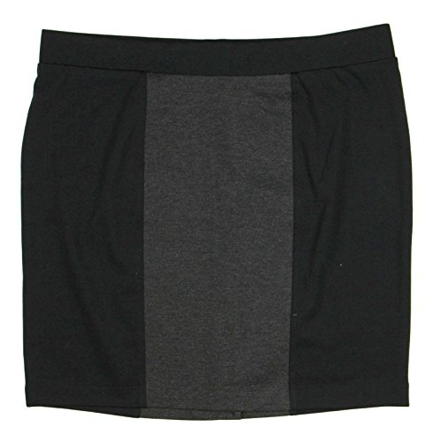Nicole Miller Womens Pencil Skirt XX-Large Black Magic/Charcoal (Nicole Stretch Skirt)