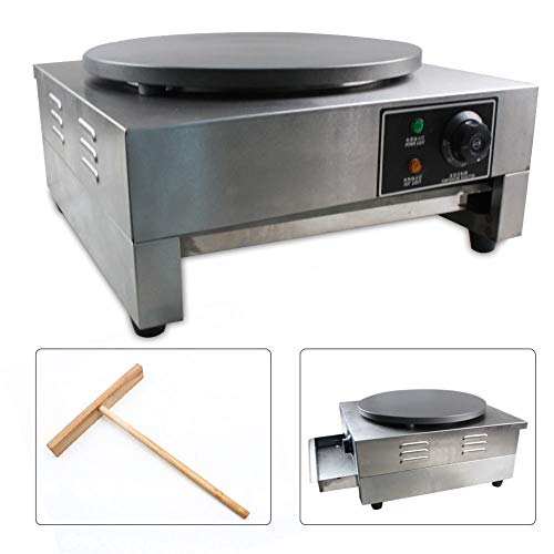 Electric Crepe Maker, 3KW Electric Pancakes Maker Griddle, 16'' Electric Nonstick Crepe Pan with Batter Spreader, Precise Temperature Control for Blintzes, Eggs, Pancakes and More by NOPTEG (Image #5)