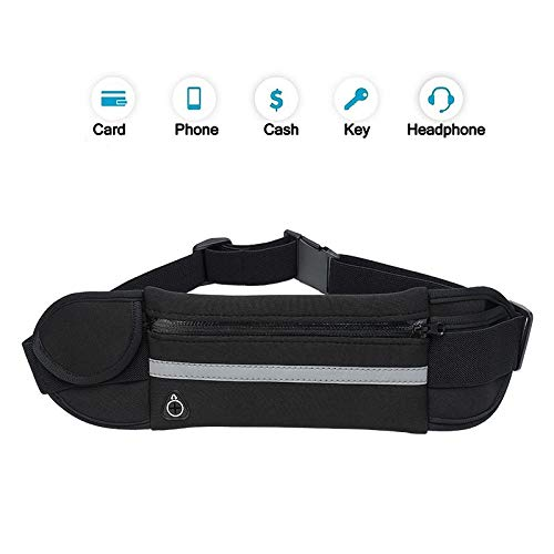 Ztent Running Belt Waist Pack, Water Resistant Runner Belt,Sports Fanny Pack for Hiking Fitness, Adjustable Running Pouch for All Phone Models (Womens Running Pack)