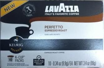 LavAzza, K-Cup, Single Serve, Perfetto, Espresso Roast, 10 Count, 3.4oz Box (Pack of 3) (Perfetto)
