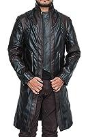 Hawk Brown Leather Coat Jacket