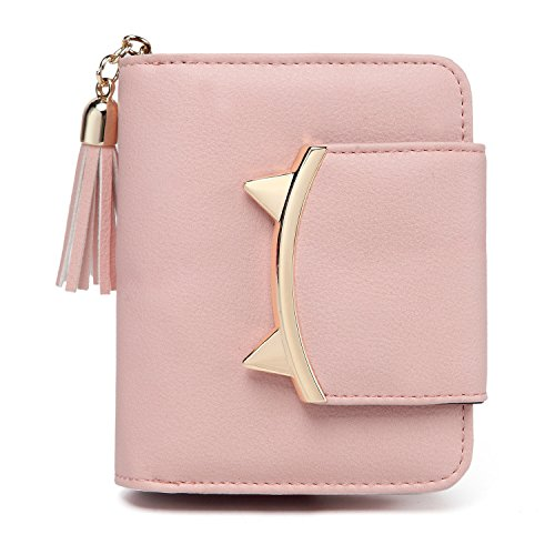 Women Cute Cat Mini Wallet Design Coin Purse leather Wrist Strap