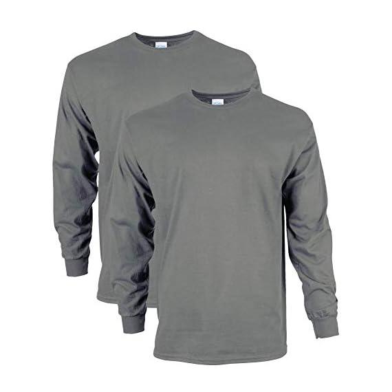 Gildan-Mens-Ultra-Cotton-Adult-Long-Sleeve-T-Shirt-2-Pack