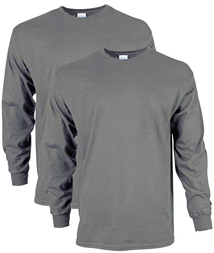 Gildan-Mens-Ultra-Cotton-Adult-Long-Sleeve-T-Shirt-2-Pack
