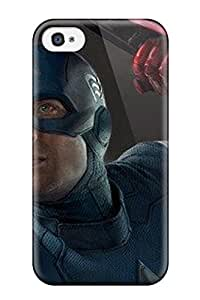Discount 7841422K54303895 New Snap-on Skin Case Cover Compatible With Iphone 4/4s- Captain America