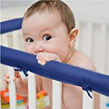 EXQ Home 3-Piece Baby Crib Rail Cover Set for 1